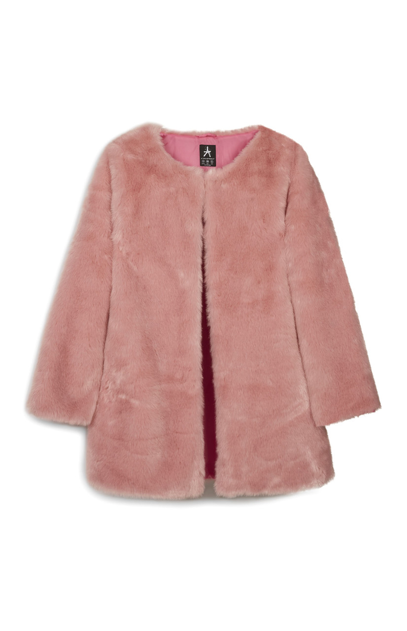Pink faux Fur Jacket_Ôé¼40