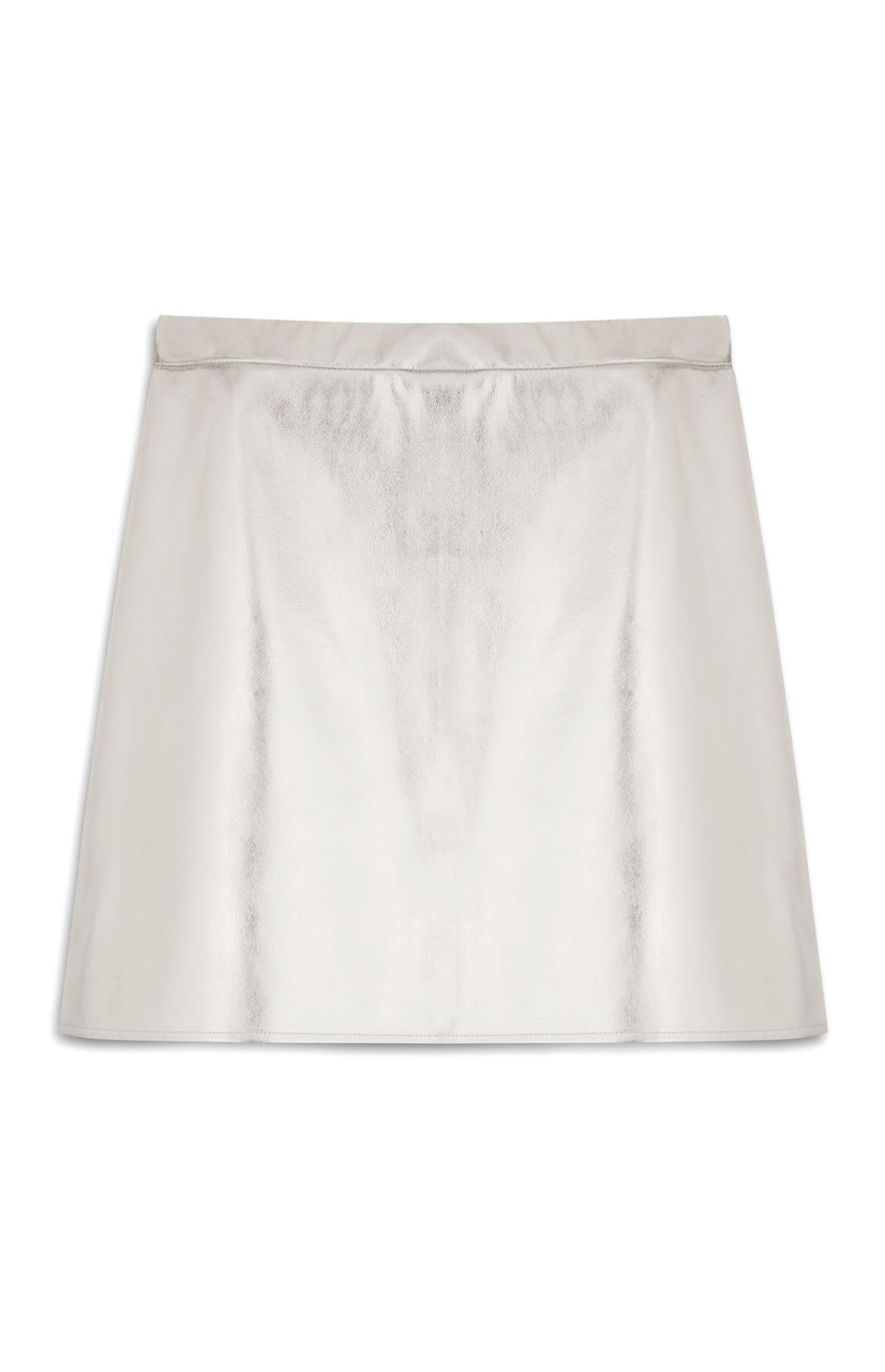 Silver Metallic Mini Skirt_Ôé¼11